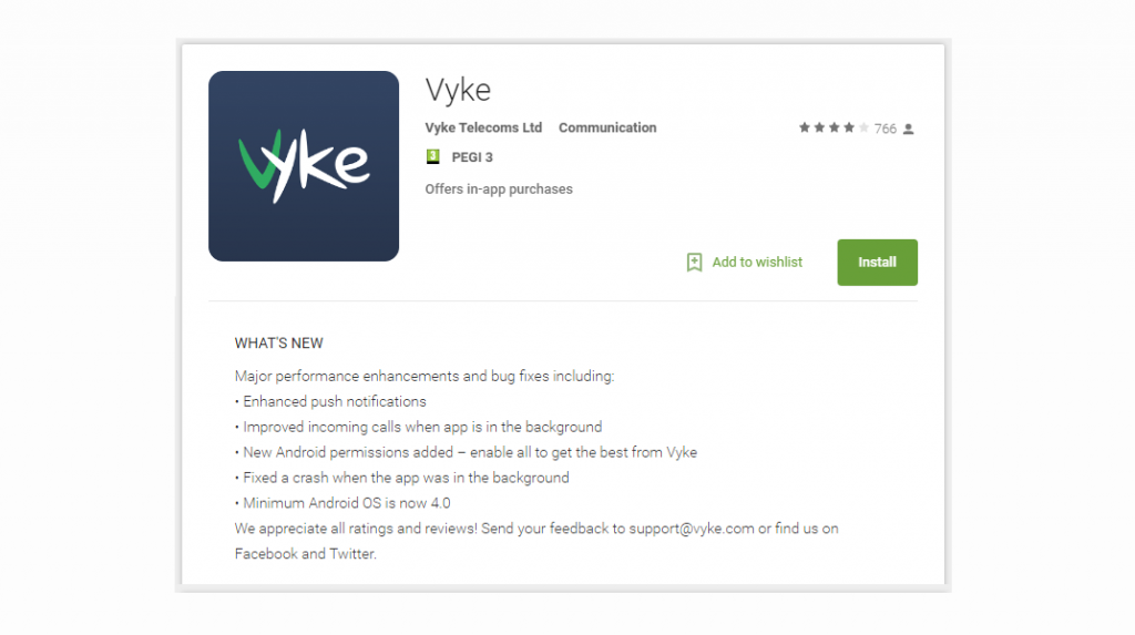 New Vyke Android app available to download on Play Store | Vyke